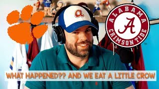 What happened?? Alabama vs Clemson - National Championship Playoff Game Review Reaction 2019