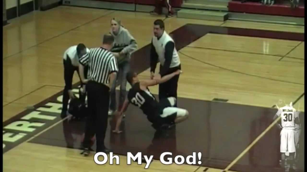 Players Worst Nightmare Basketball Fall - YouTube