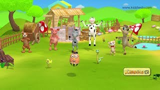 Animal Sounds For kids | Children video | Kids song | Youtube kids | nursery rhyme | 3D |  Kiddiestv