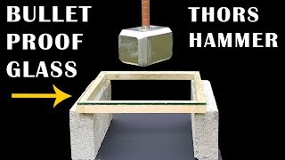 91lb THOR HAMMER v BULLETPROOF GLASS - Episode 9 - BrainfooTV