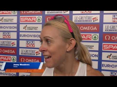 Jenny Meadows happy to be in Amsterdam