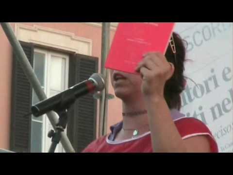 Il popolo delle Agende Rosse al No Bavaglio Day (1/07/2010)