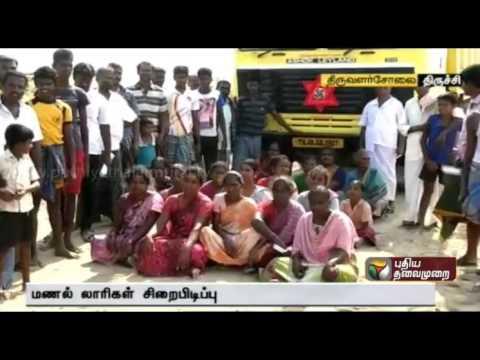 Villagers block 500 lorries involved in sand mining in Kollidam