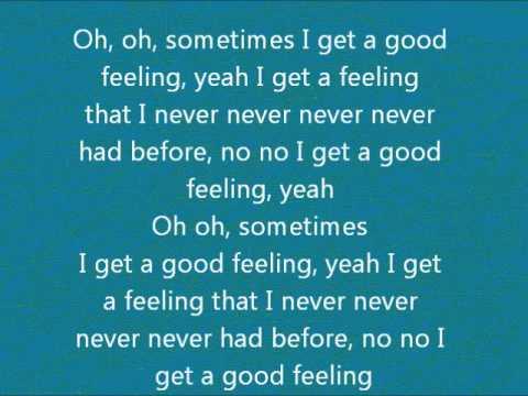Flo Rida - Good feeling Lyrics