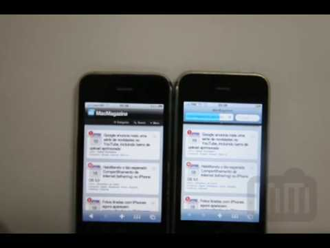 Comparativo de performance do iPhone 3G S
