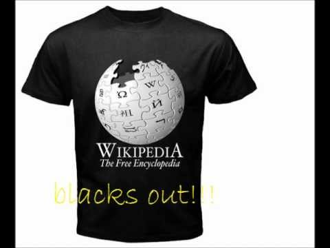 WIKIPEDIA BLACKS OUT FOR 24HOURS!!!