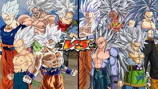 DRAGON BALL SUPER VS DRAGON BALL AF   ULTRA INSTINTO VS SSJ5   DRAGON BALL Z BUDOKAI TENKAICHI 3