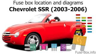 Fuse box location and diagrams: Chevrolet SSR (2003-2006)