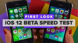 iOS 12 beta speed test on an old iPhone