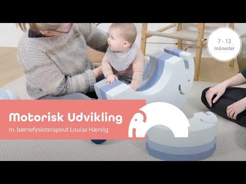 Den glade udvikling 7-12 mdr. med børnefysioterapeut Louise Hærvig og Elefant - bObles Elephant.