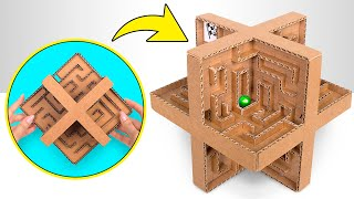 Make A Marble Labyrinth And Enjoy The Game
