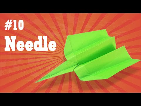 Easy origami - How to make a easy paper airplane glider that FLY FAR #10  The Needle