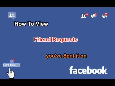 How to View Send Request on Facebook