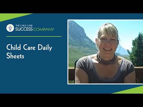 Child Care Daily Sheets