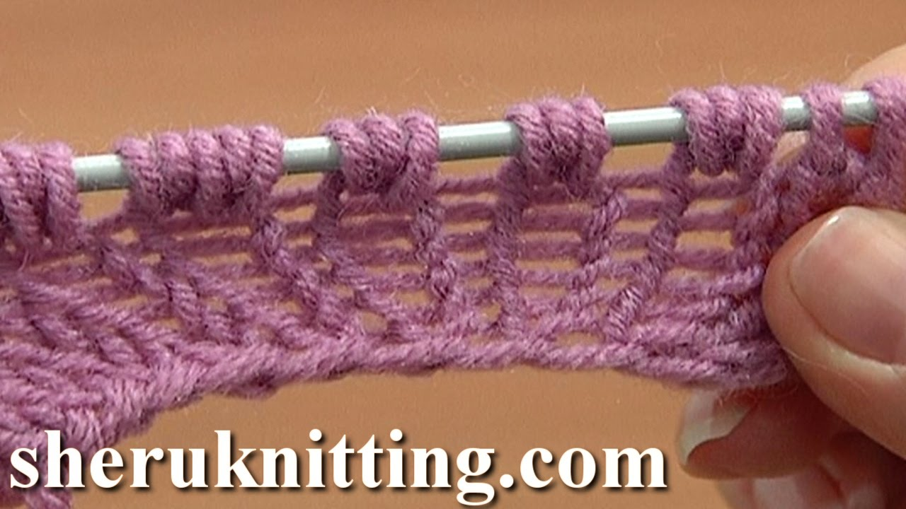 Knitting Stitches Yarn Back : Increase Knit 1 Yarn Over Knit 1 Tutorial 8 Part 9 of 14 Three-Stitches Incre...
