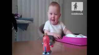Baby is scared of new toy