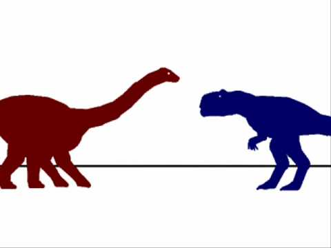 PJFC-Charcaradontosaurus vs Apatosaurus Video