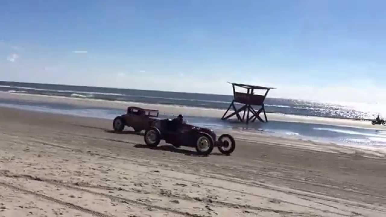 The Race Of Gentlemen Vintage Cars Racing On The Beach In Wildwood Nj Youtube
