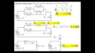 DC Circuits Part 4: Resistor Reduction Example