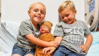 KIDS MEET BABY BROTHER! | Baby Name Reveal