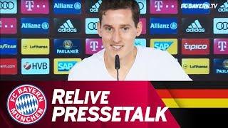 Re-Live | FC Bayern Pressetalk mit Sebastian Rudy