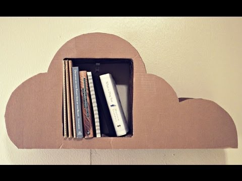 Make A Nifty Bookshelf Out Of Cardboard And Some Glue