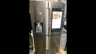 Installing a Samsung Family Hub Refrigerator Smart Hub Fridge