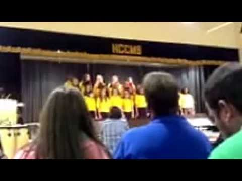 Harris County Carver Middle Schools' 7th grade chorus singing 