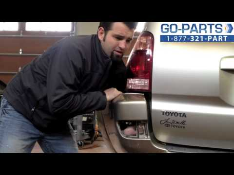 Replace 2003-2005 Toyota 4Runner Rear Bumper Reflector/Bulb . How To Change Install 2004 TO1184101