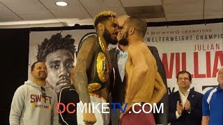 JARRETT HURD WEIGHS IN AND FACEOFF WITH JULIAN WILLIAMS; BOTH GUYS READY FOR TOMORROW NIGHT