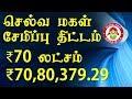 செல்வ மகள் சேமிப்பு திட்டம் வருமானம்  ₹70 லட்சம் கிடைக்குமா   Selva Makal Semippu Thittam in Tamil