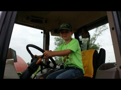 Farm Kid and John Deere Tractor