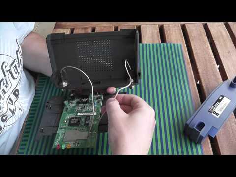 Linksys WAP54G Case Opening and Antenna Repair Demo