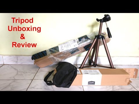 Unboxing & review of Amazon basics tripod | dslr tripod Unboxing and first look