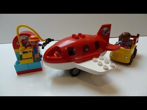 Đồ Chơi Lego Mới Của Mỹ Ghép Hình Máy Bay Sân Bay (Bí Đỏ) New LEGO Duplo Airport (10590