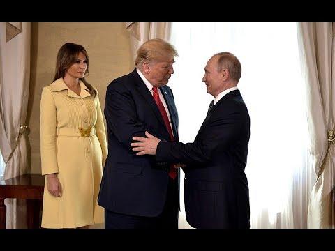Хельсинки. Встреча Путина и Трампа.  Трамп Наш!-  Крым Наш!