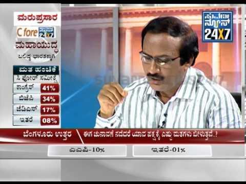 C-Fore pre-poll survey results for Elections 2014 in Karnataka seg 5 - Suvarna News