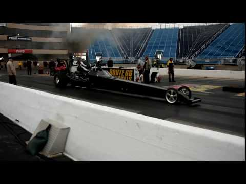 TRIPLE TURBO DIESEL DRAGSTER~ INTERNATIONAL DT466 540C.I. 3000HP @ RT66 JOLIET