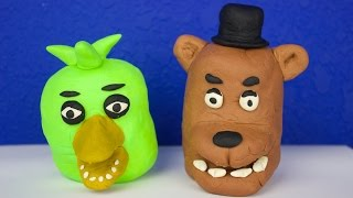 Play-doh 5 Nights at Freddy's Surprises, Angry Birds Mash'ems and More