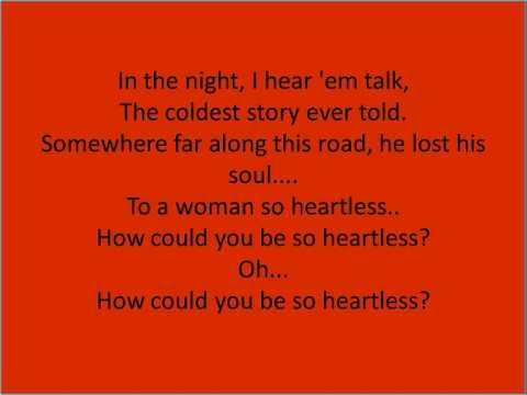 Heartless-kanye West-lyrics video