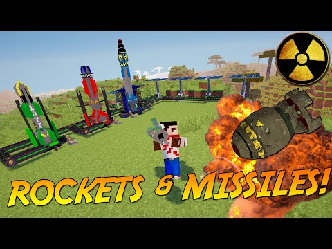 MISSILES, ROCKETS AND HIGH TECH EXPLOSIVES!   Minecraft Mod Showcase!