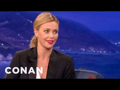 Charlize Theron On Her Creepy Charity Blind Date - CONAN on TBS