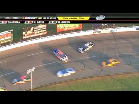 2009 Kroger 200 - Trevor Bayne / Steve Wallace Crash During Caution Video