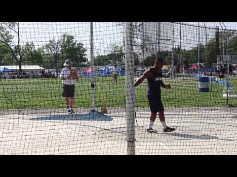 Curtwan Evans - Lake Park High School at 2014 Class 3A Boys Track & Field Preliminaries- Shot Put