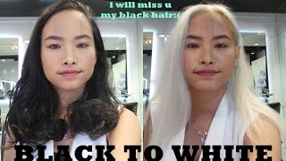Black to White Hair Transformation IN ONE DAY - Hair Show by Toni&Guy Hairdresser | Amyra Irzanti