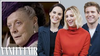 The Cast of Downton Abbey Reviews Maggie Smith's Most Iconic Moments | Vanity Fair