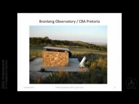 Observing programmes at the Bronberg and Klein Karoo Observatories