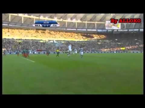 Eurogol Andrea Pirlo in Messico-Italia 1-2 Confederation Cu