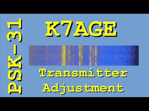 PSK31 Transmitter Level Adjustment
