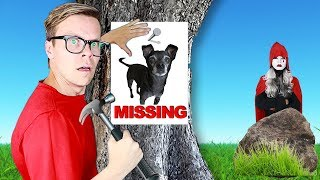 Our Dog Is Missing!  (New Clues Found at Hacker Mansion) Game Master Rescue